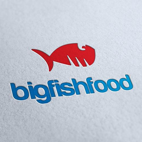 Big Fish Food Logo Template