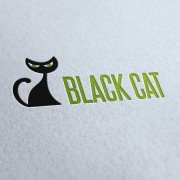 Black Cat Logo Template
