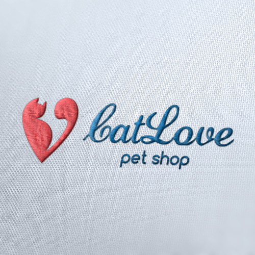 Cat Love Logo Template