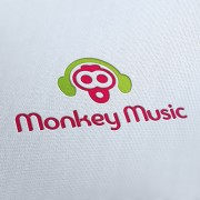 Monkey Music Logo Template