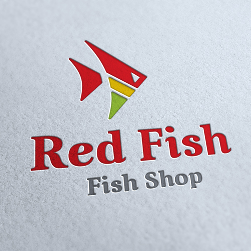 Red Fish Logo Template
