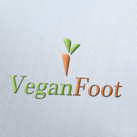 Vegan Food Logo Template