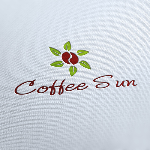 Coffee Sun Logo Template
