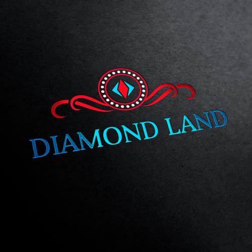 Diamond Land Shop Logo Template