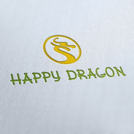 Happy Dragon Restaurant Logo Template