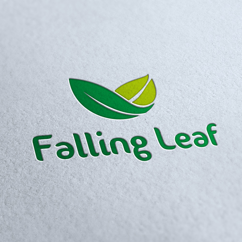 Falling Leaf Company Logo Template