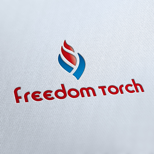 Freedom Torch Idea Logo Template