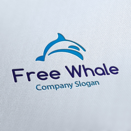 Free Whale Project Logo Template