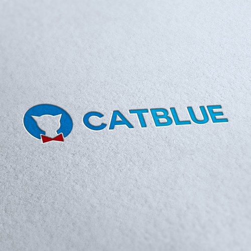 Cat Blue Shop Logo Template