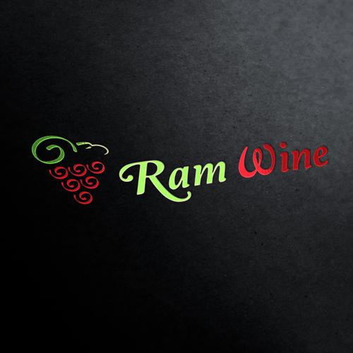 Ram Wine Logo Template
