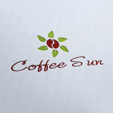 Coffee Sun Logo Template
