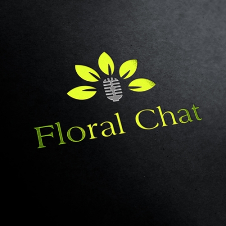 Floral Chat Logo Template
