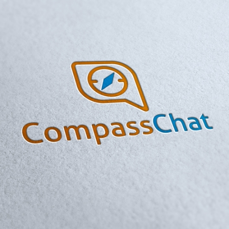 Compass Chat Logo Template