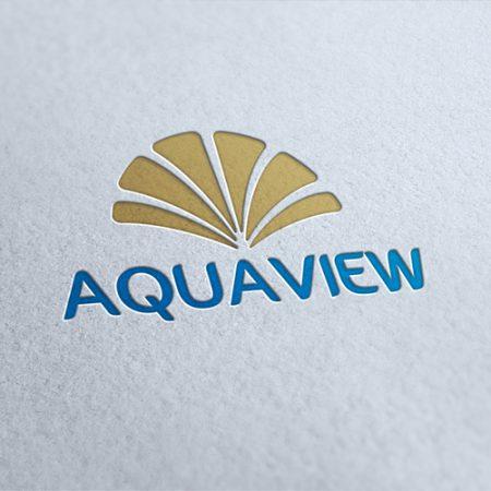 Aqua View Logo Template